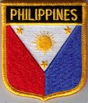 Philippines Embroidered Flag Patch, style 07.